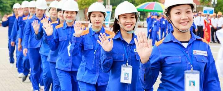 May đồng phục bảo hộ chất lượng tại quận Gò Vấp