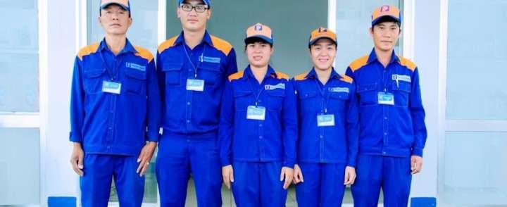 May đồng phục bảo hộ chất lượng tại quận Bình Tân