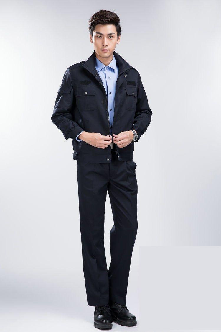 Đồng phục bảo hộ cao cấp tay dài màu xanh đen