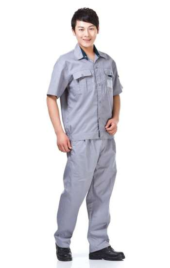 Đồng phục bảo hộ cao cấp tay ngắn màu xám
