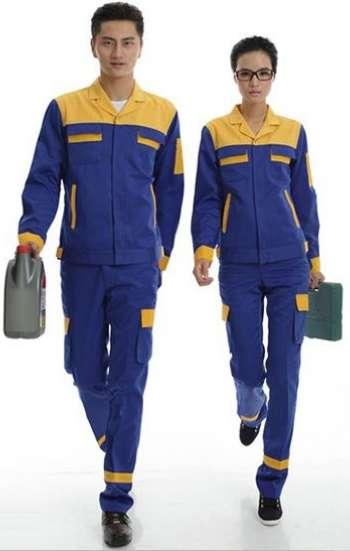 Đồng phục bảo hộ cao cấp tay dài phối màu xanh cam