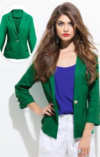 Đồng phục công sở áo vest nữ cao cấp màu xanh lá