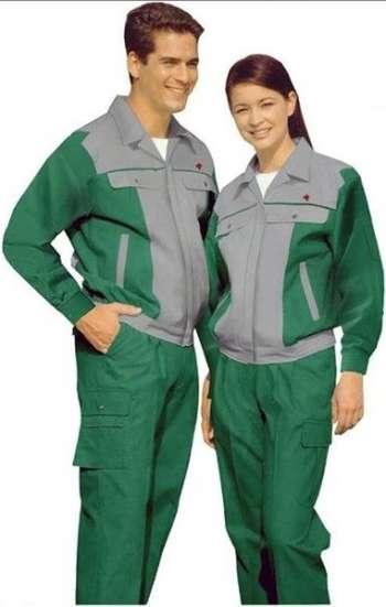 Đồng phục bảo hộ cao cấp tay dài phối màu xám xanh lá