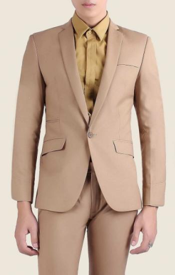 Đồng phục công sở áo vest nam cao cấp màu nude