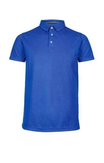 Đồng phục áo thun cổ trụ tay ngắn màu xanh dương