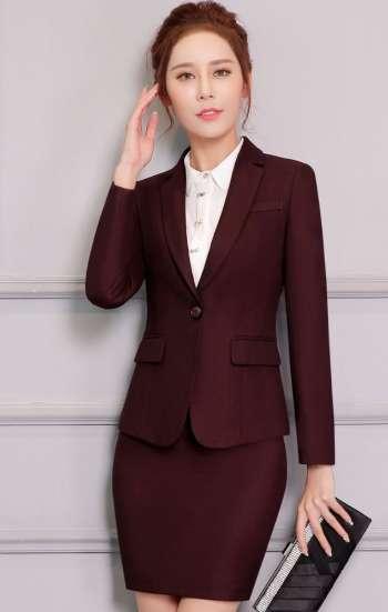 Đồng phục công sở vest nữ cao cấp màu nâu