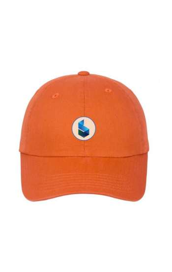 Nón kết đồng phục cao cấp màu cam in logo