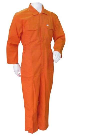 Đồng phục bảo hộ lao động nguyên bộ áo liền quần tay dài màu cam