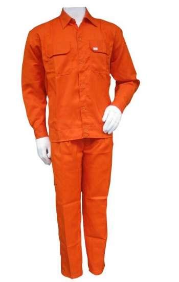 Đồng phục bảo hộ lao động nguyên bộ tay dài màu cam