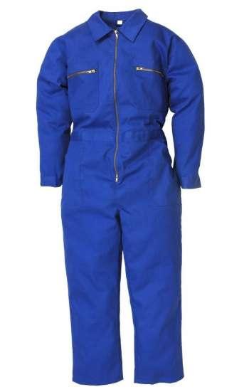 Đồng phục bảo hộ áo liền quần màu xanh có khóa kéo