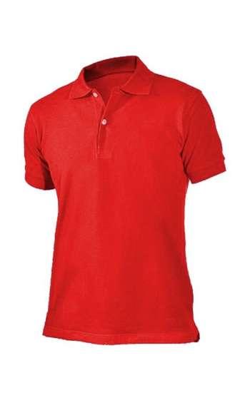 Áo thun đồng phục vải cá sấu màu đỏ