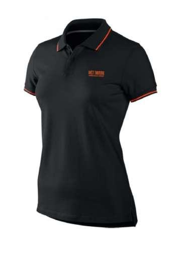 Áo thun đồng phục cổ trụ màu đen