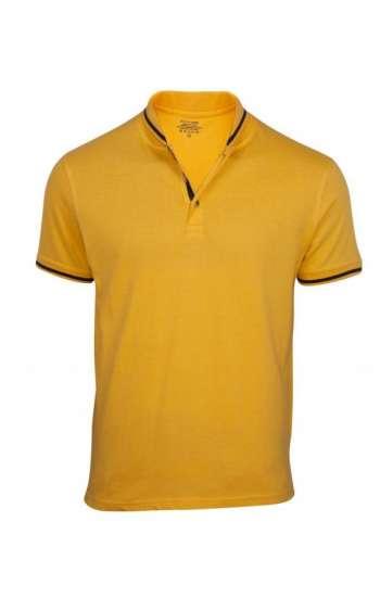 Áo thun đồng phục vải cá sấu màu vàng