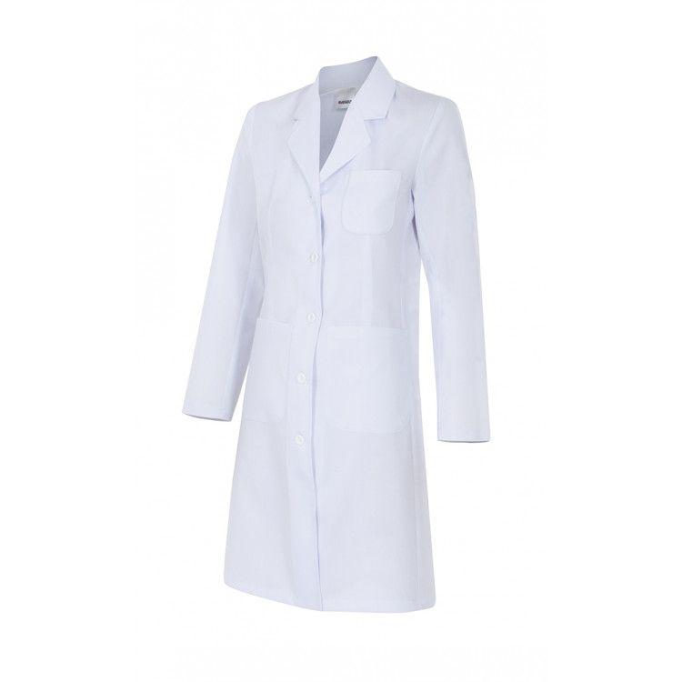 Đồng phục áo blouse trắng dài cho bác sĩ