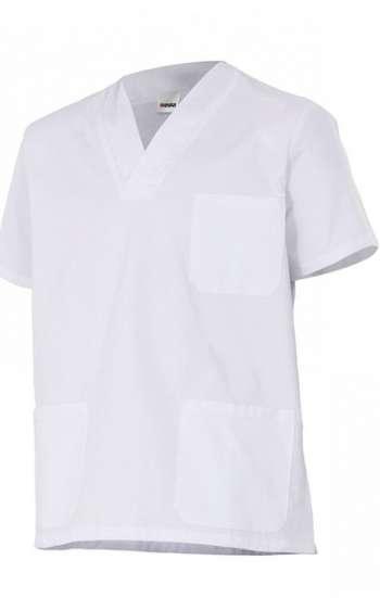 Đồng phục bệnh viện mẫu áo trắng không cổ