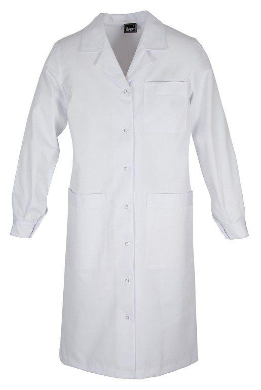 Mẫu áo blouse trắng tay dài dành cho bác sĩ