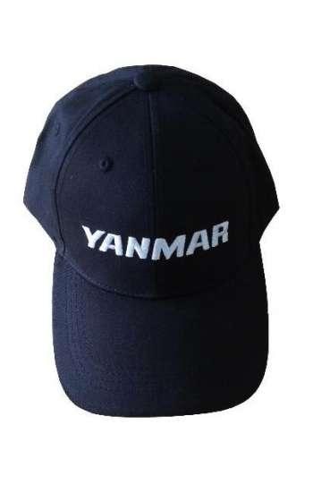 Mẫu nón đồng phục màu xanh đen thêu logo trắng