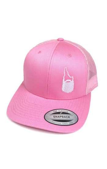 Mẫu nón đồng phục màu hồng phối lưới