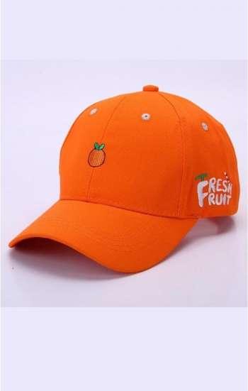Nón đồng phục nhân viên màu cam logo thêu