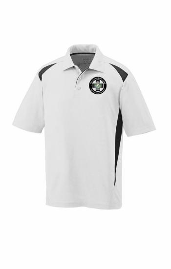 Áo thun polo phối màu trắng đen in thêu logo theo yêu cầu