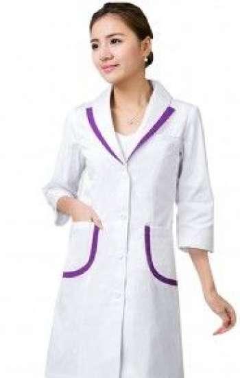 Mẫu áo blouse trắng tay lỡ viền tím