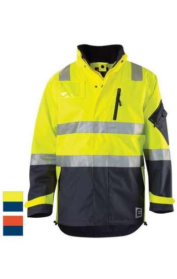 Áo đồng phục bảo hộ phản quang dài tay đen, vàng, xám