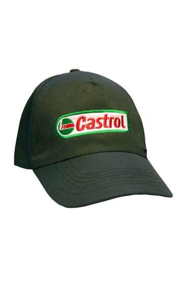 Nón kết đồng phục lưỡi trai màu xanh lá thêu logo