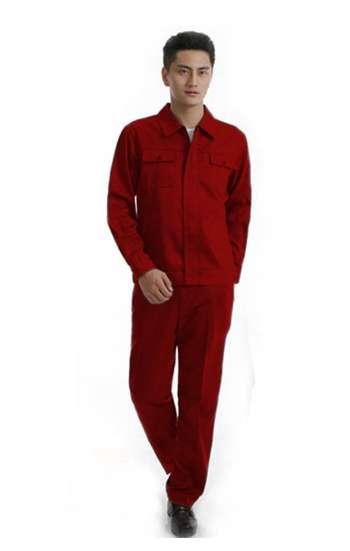 Đồng phục bảo hộ cao cấp tay dài màu đỏ đô