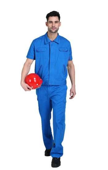 Đồng phục bảo hộ cao cấp tay ngắn màu xanh dương