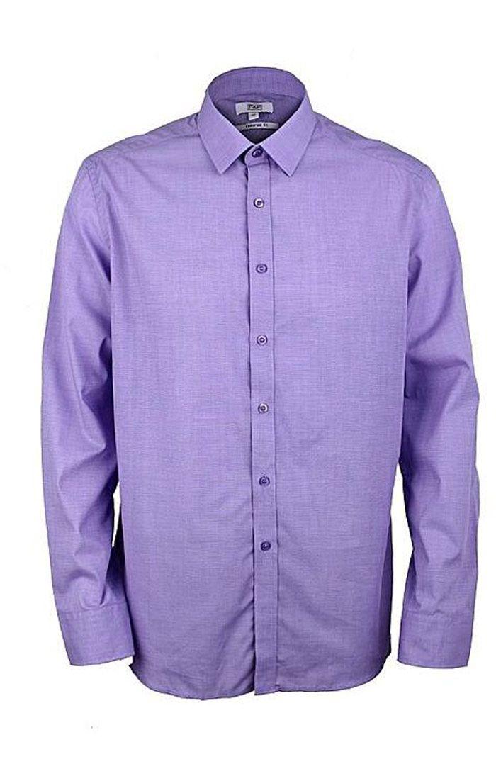 Đồng phục công sở áo sơ mi nam tay dài màu tím