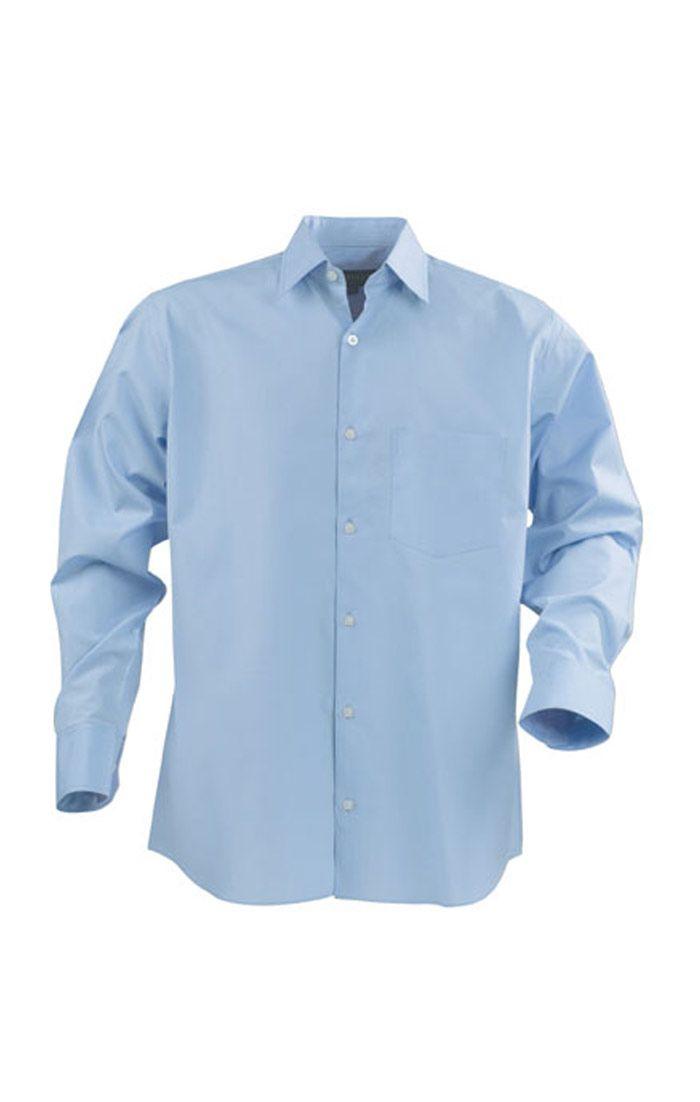 Đồng phục công sở áo sơ mi nam tay dài màu xanh