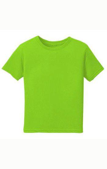 Áo thun trơn đồng phục cổ tròn màu xanh lá