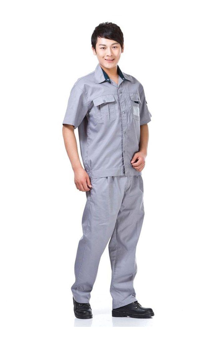 Đồng phục bảo hộ màu xám tay ngắn