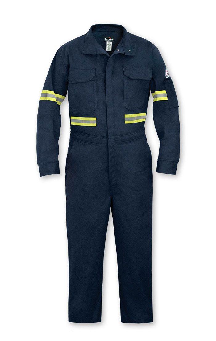 Đồng phục bảo hộ màu xanh đen có viền phản quang