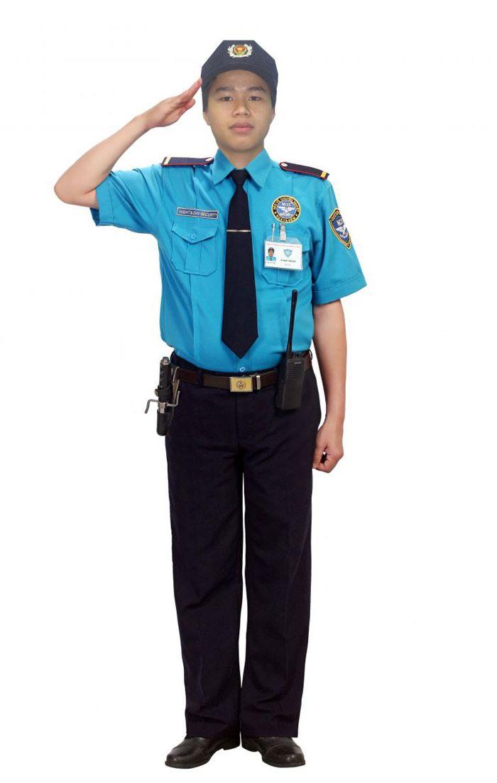 Đồng phục bảo vệ sơ mi xanh rêu tay ngắn quần tây