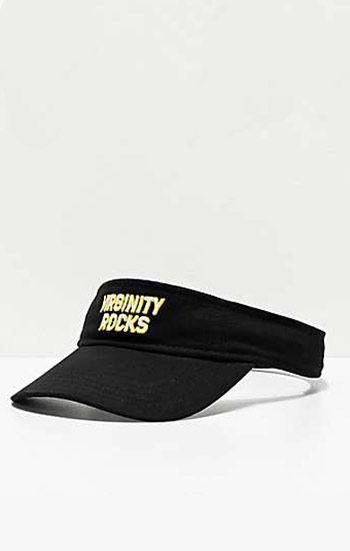 Đồng phục nón kết nửa đầu màu đen viền trắng thêu chữ